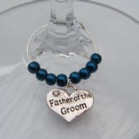 Father Of The Groom Wine Glass Charms